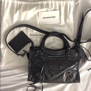 Balenciaga classic mini city (black)